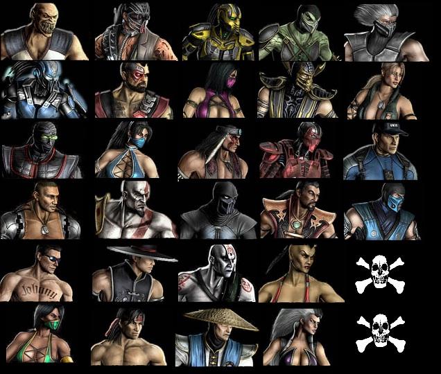Все бойцы MK 9