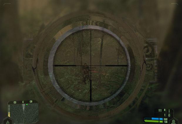 Снайпер в маскеровке