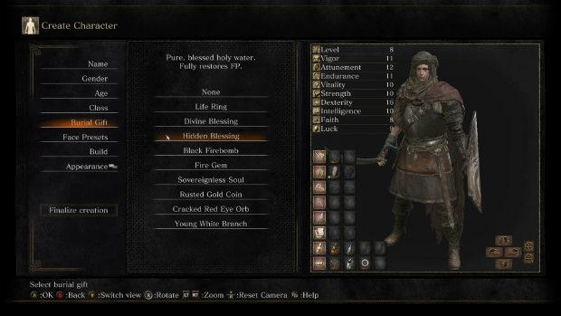 Dark Souls 3 начальный дар предмет